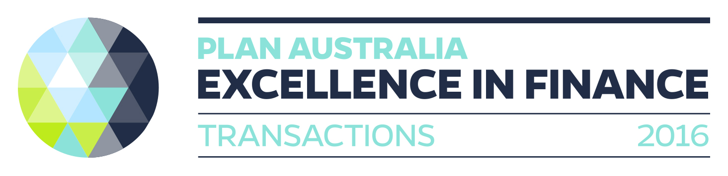 PLAN Australia Excellence in Finance - Transactions 2016